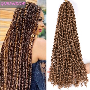 Long Passion Twist Crochet Hair Extensions Ombre Synthetic Water Wave Braiding Hair for Afro Women Cruly Bohemian Crochet Braids