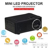 Mini projecteur LED Portable HD 1080P multimedia Home cinema cinema videoprojecteur  affichage de synchronisation sans fil pour telephone
