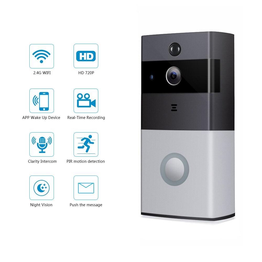 Wifi smart video doorbell waterproof video camera walkie-talkie night vision doorbell wireless IP home security camera enlarge