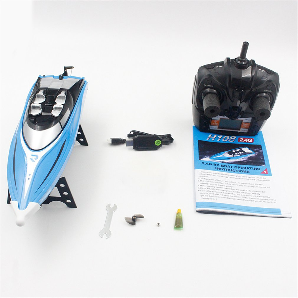 Skytech H108 RC Boat 2.4GHz 4CH Remote Control Boat Racing Boat with Alarm Function Toys Gift for Ch