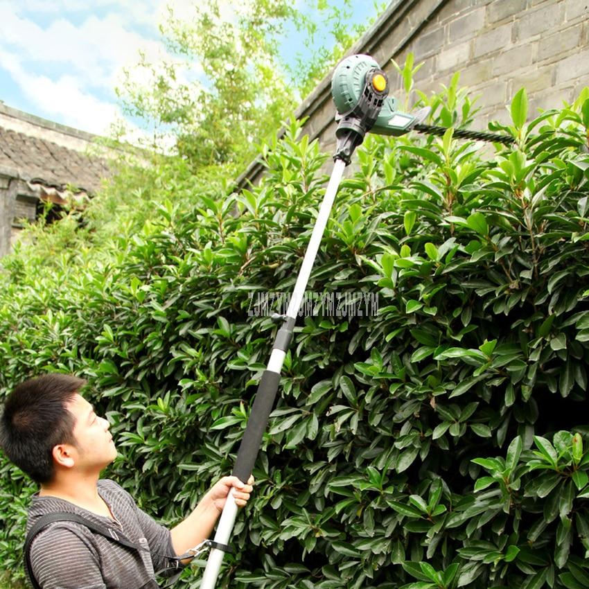 Máquina de podar telescópica eléctrica de gran altura, herramientas de jardín, máquina Hedgerow, tijeras de podar de 220v/50HZ 450W 1600 r/min