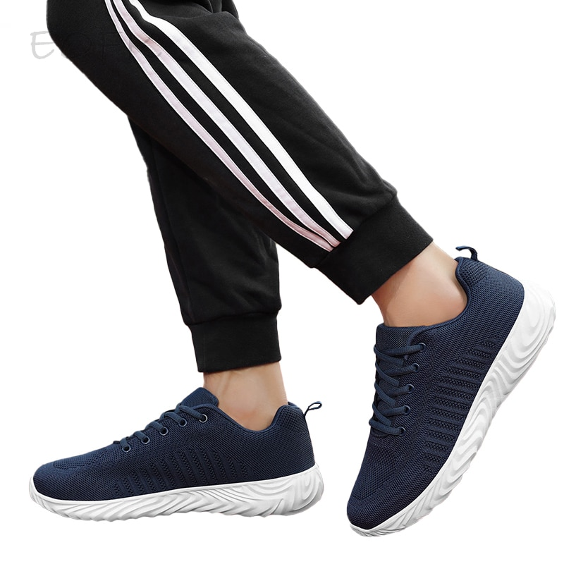EOFK Women Casual Shoes Sneakers Autumn Spring Soft Comfy Lightweight Ladies Flat Fabric Lace Up Mot