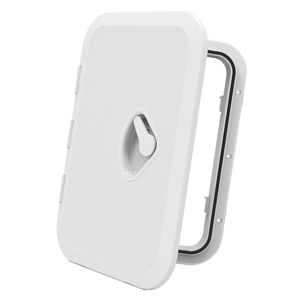 Blanco antideslizante acceso escotilla Twist tornillo fuera de la placa de cubierta para RV barco marino Kayak-14-3/4x10-1/4 pulgadas 375x270mm