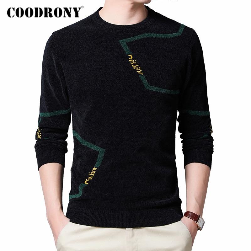 Marca COODRONY suéter Moda hombre Casual cuello redondo pulóver ropa de hombre para primavera otoño 2020 nueva llegada algodón Pull Homme C1038