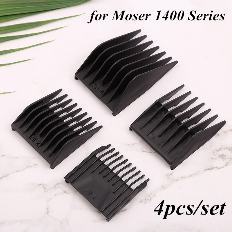 4pcs/set Barber Professional Universal Hair Clipper Limit Comb Replacement Cutting Guide Combs for Moser 1400 Series G1202