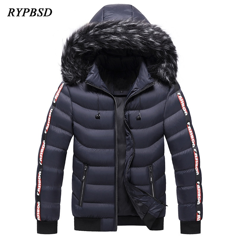 2020 new white duck down jacket men thick winter normcore minimalist hooded windproof warm coat parka big pockets size 3xl Winter Jacket Men Brand 2020 Fashion Solid Warm Thick Fur Collar Parka Coat Hooded Windproof Down Jacket Clothing Big Size 5XL