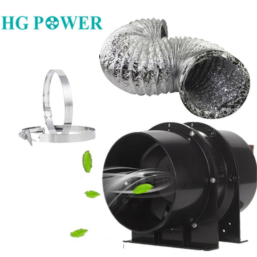 4 ''6'' бесшумный встроенный импеллер 110V 220V Выпускной Шланг Комплект для выращивания Гидропоники вентилятор Гроу тенты для вентиляции Систем...