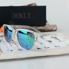 Dokly Real Mirror Polaroized Sunglasses Men and women polarized sunglasses Semi-Rimless Sun Glasses