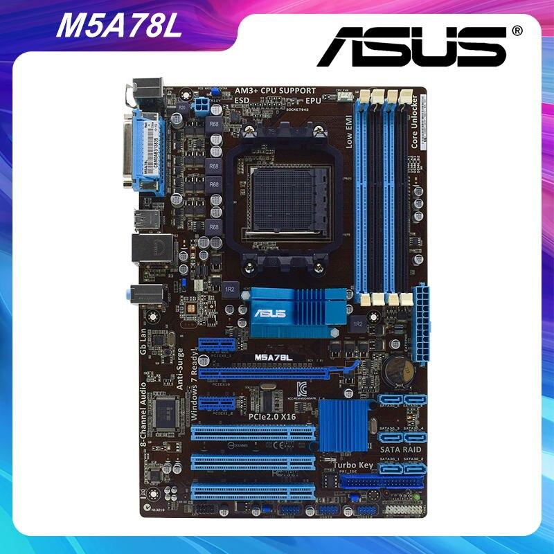 Placa base M5A78L para ASUS Socket AM3 +, AMD 760G/780L, usada para...