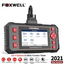 Профессиональный сканер FOXWELL NT604 Elite OBD2, система трансмиссии из АБС пластика, подушка безопасности, инструмент для диагностики автомобиля