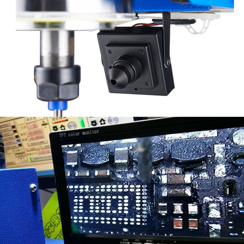 Universal CCD Camera System 1080P with 7 Inch Monitor BNC Connector for CNC Engraving Machine Wood Lathe enlarge