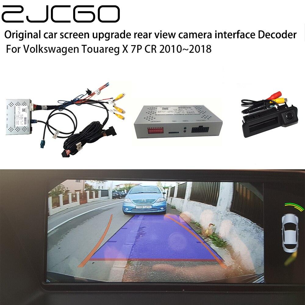 ZJCGO-كاميرا خلفية خلفية للسيارة ، محول واجهة صندوق فك التشفير الرقمي لفولكس فاجن طوارق X 7P CR 2010 ~ 2018
