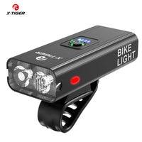 X-TIGER велосипедный светильник IPX6 Водонепроницаемый 1200 Люмен USB зарядка велосипедная лампа 2400 мАч MTB дорожный велосипед передний флэш-светиль...