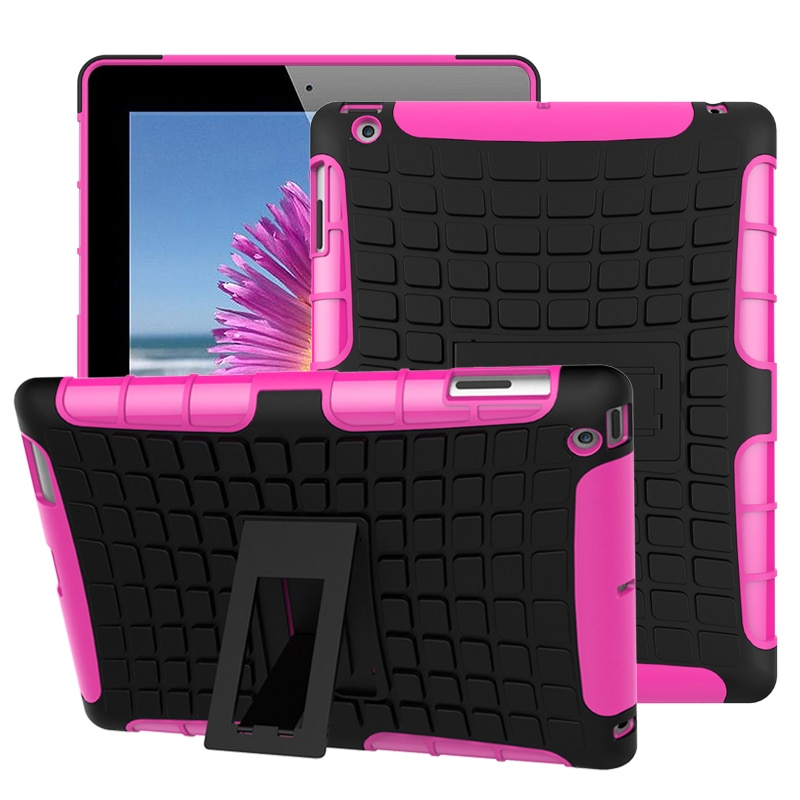 Tablet Case For Apple iPad 2/3/4 Cover Hybrid Armor Kickstand Hard Case For iPad 3 Cover Accessory A1416 A1430 A1403 9.7 fundas