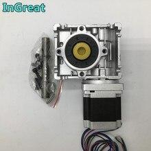 Nema23 moteur Stepper avec ver   Réducteur de vitesse RV030 101 14mm sortie 3A 56MM 1,2nm 172z-in conversion 90 degrés