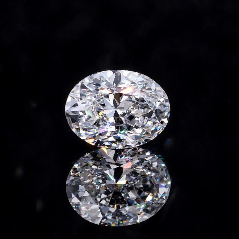 ماسة بيضاوية الشكل لصنع المجوهرات ، 0.08ct-0.29ct ، DEF أبيض مقابل الوضوح ، CVD/HPHT