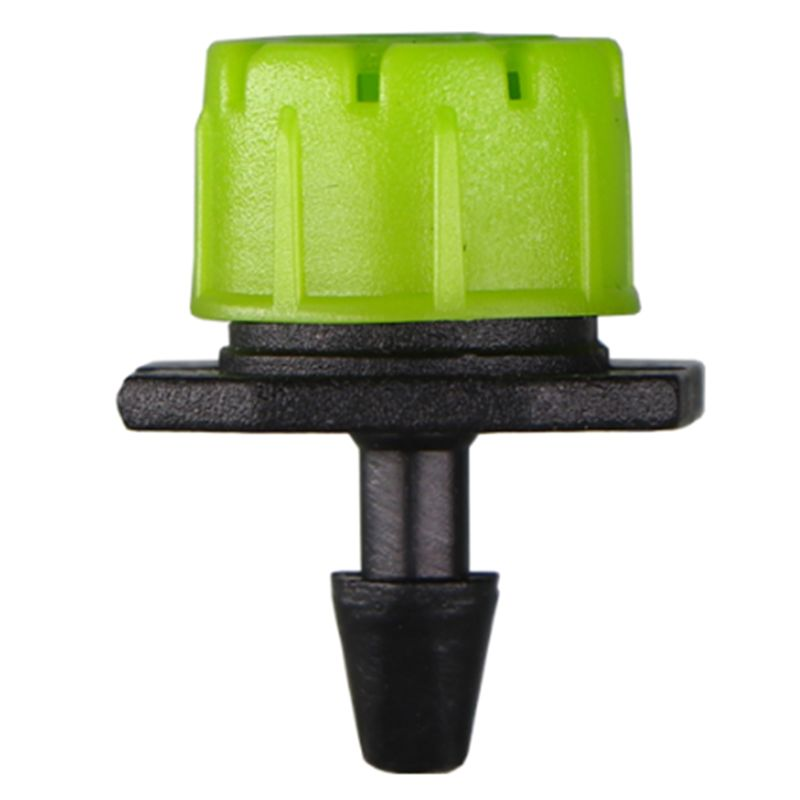 1/4Inch Adjustable Micro Drip Irrigation System Watering Sprinklers Anti-Clogging Emitter Dripper Green Garden Supplies