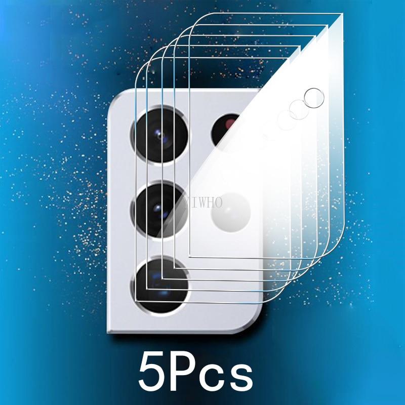 5Pcs Camera Protector Glass for Samsung Galaxy S21 Ultra Case S21 Plus S21FE Note 20 S20 A72 A52 A32 5G A41 A31 A21S A22 Film