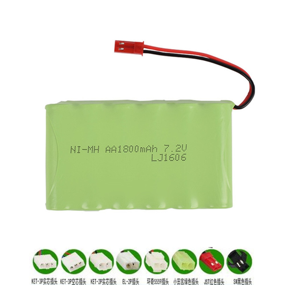 Bateria recarregável de 7.2v 1800mah nimh para brinquedos rc carros tanques robôs arma ni-mh aa 700mah 7.2v 1 pces a 5 pces para rc barco