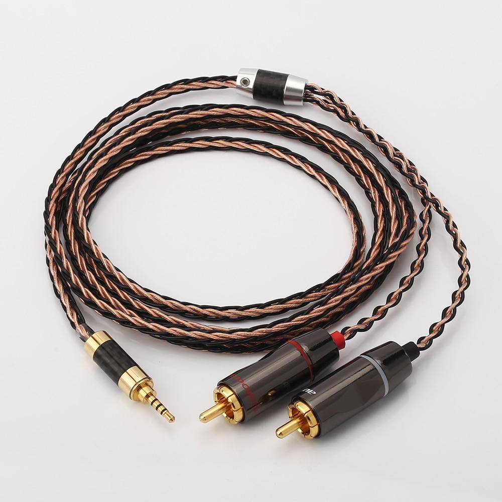 Audiocrast مركبتي 2.5 مللي متر TRRS متوازنة 2 RCA الذكور كابل ل Astell و كيرن AK100II ، AK120II ، AK240 ، AK380 ، AK320 ، DP-X1