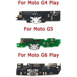Charging Port For Motorola Moto G4 G5 G6 Play USB Charge Board PCB Dock Connector Socket Plate Flex Replacement Spare Parts