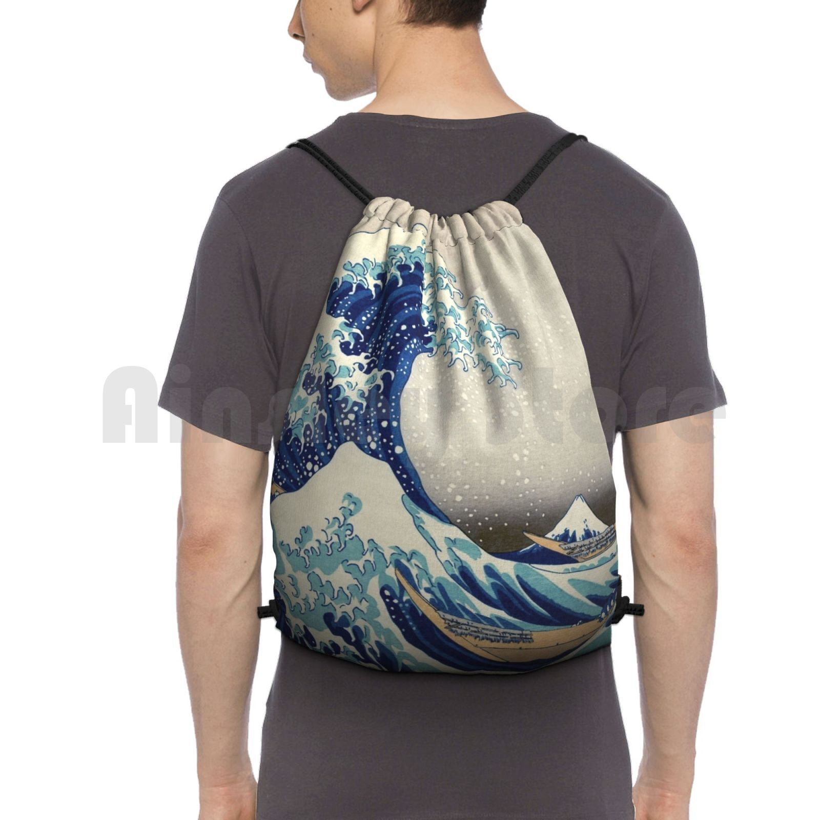 Best Price Magnets-T-Shirts , Prints Etc-Hokusai-The Great Wave Off Kanagawa-1823 Outdoor Hiking Backpack Waterproof Camping