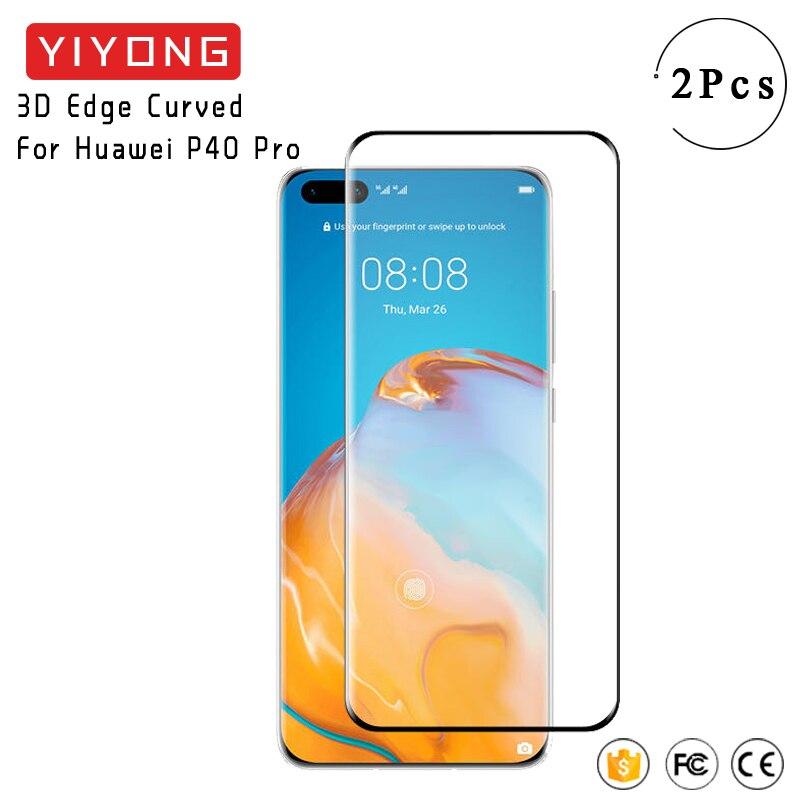 YIYONG 3D Rand Gebogenem Glas Für Huawei P40 Pro Plus + Gehärtetem Glas Screen Protector Für Huawei Mate 40 30 pro 20 P30 Pro Glas