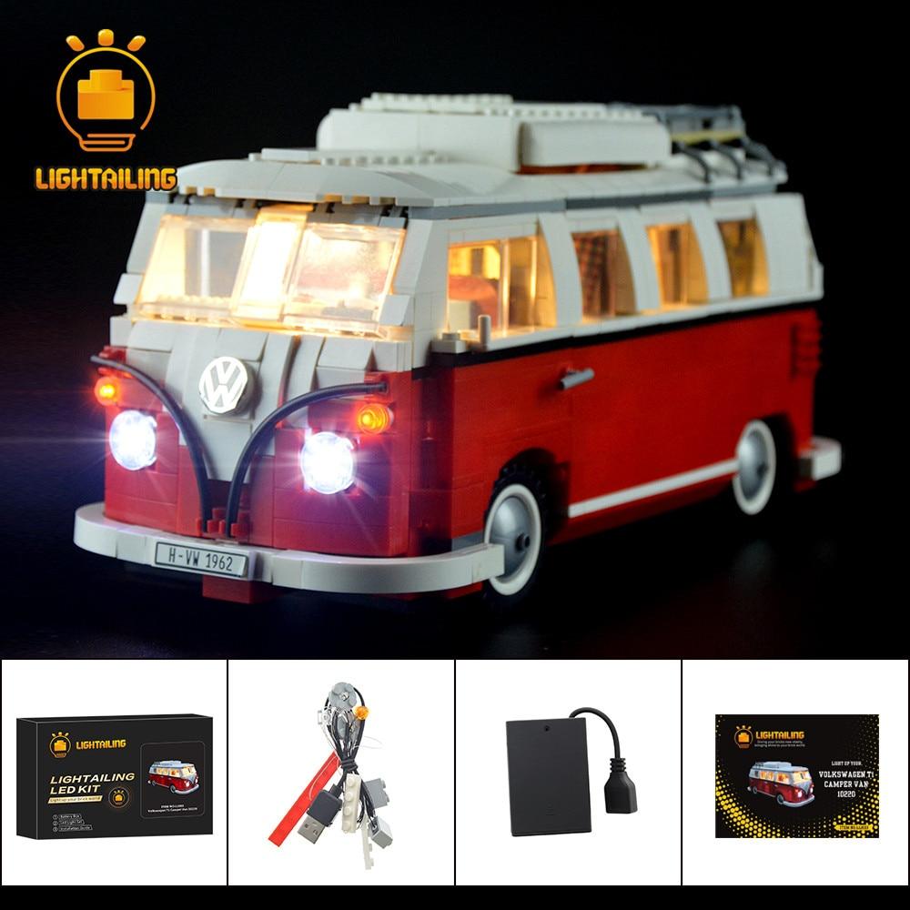 LIGHTAILING مجموعة إضاءة LED ل 10220 T1 شاحنة التخييم متوافق مع 21001
