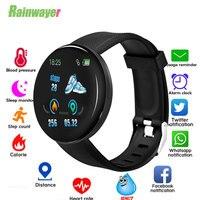 Смарт-часы D18 для мужчин, фитнес-трекер с измерителем артериального давления, шагомер, умные часы для Ios, Android