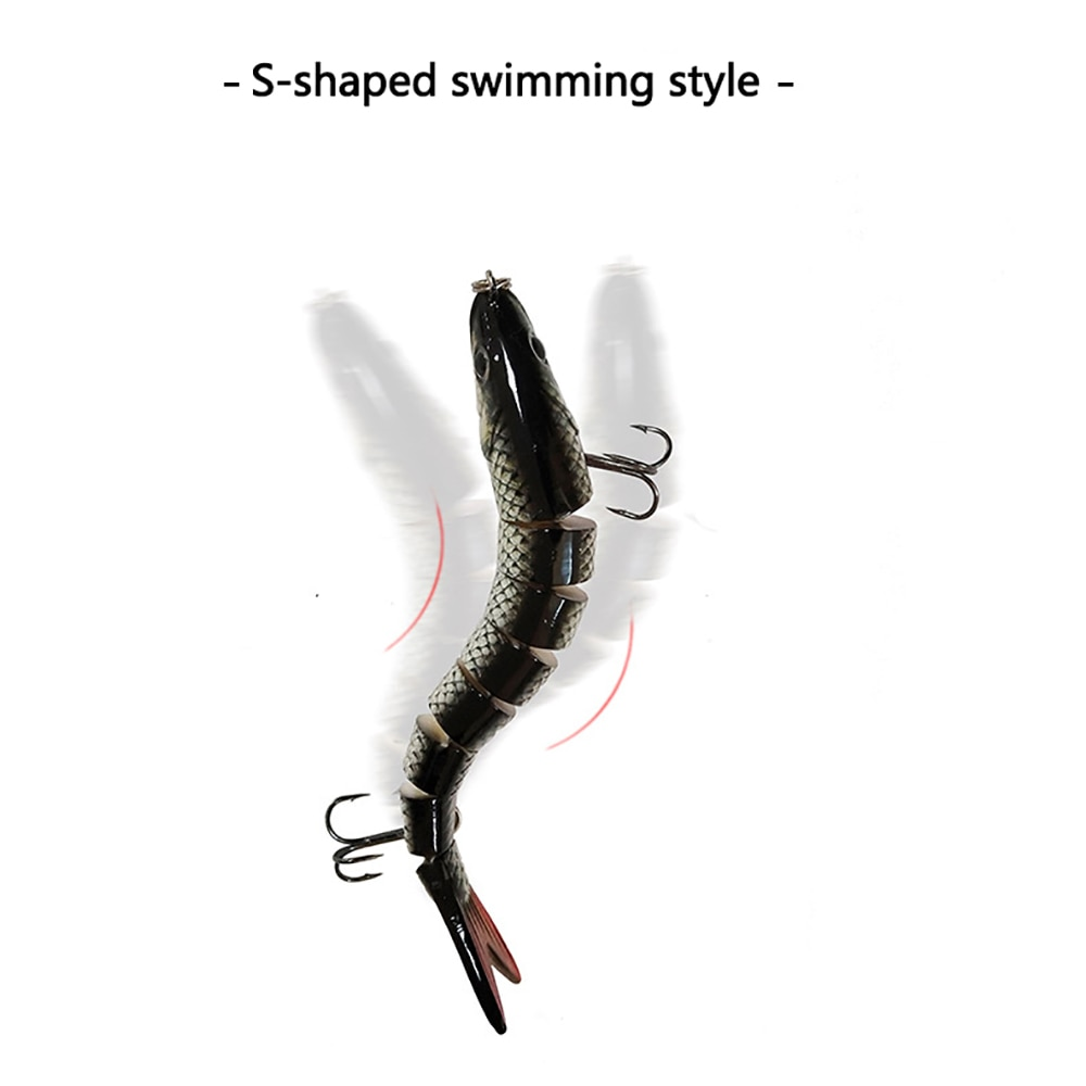 14cm 25g Fishing Lures Bait 8 Jointed 3D Eyes Wobbler Multi-section Fish Bionic Fake Bait Bass Carp Fishing Sea Tackle Pike Lure enlarge