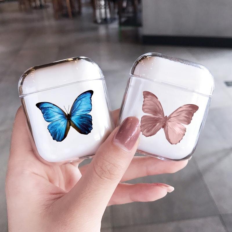 Модный красивый чехол с бабочками для Airpods Pro 2, чехол с милым мультяшным рисунком, Жесткий Чехол для наушников Airpod 2 Pro, чехол для зарядки