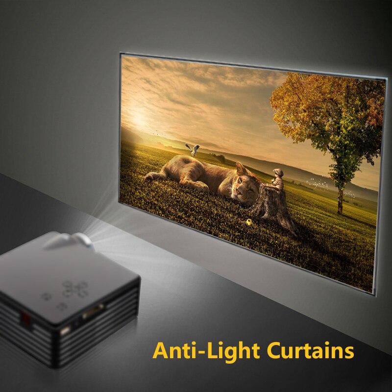 Pantalla de proyector portátil 16 9 de 60/150 pulgadas, cortinas antiluz, proyector Digital 3D HD para cine en casa