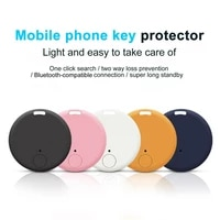 anti lost device wireless two way alarm mini bluetooth compatible gps tracker wallet key finder round bluetooth anti lost device