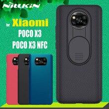 Защитный чехол NILLKIN для камеры Xiaomi Poco X3 NFC F3, слайд объектив, защита конфиденциальности для Xiaomi Redmi Note 10 Pro Max 10s