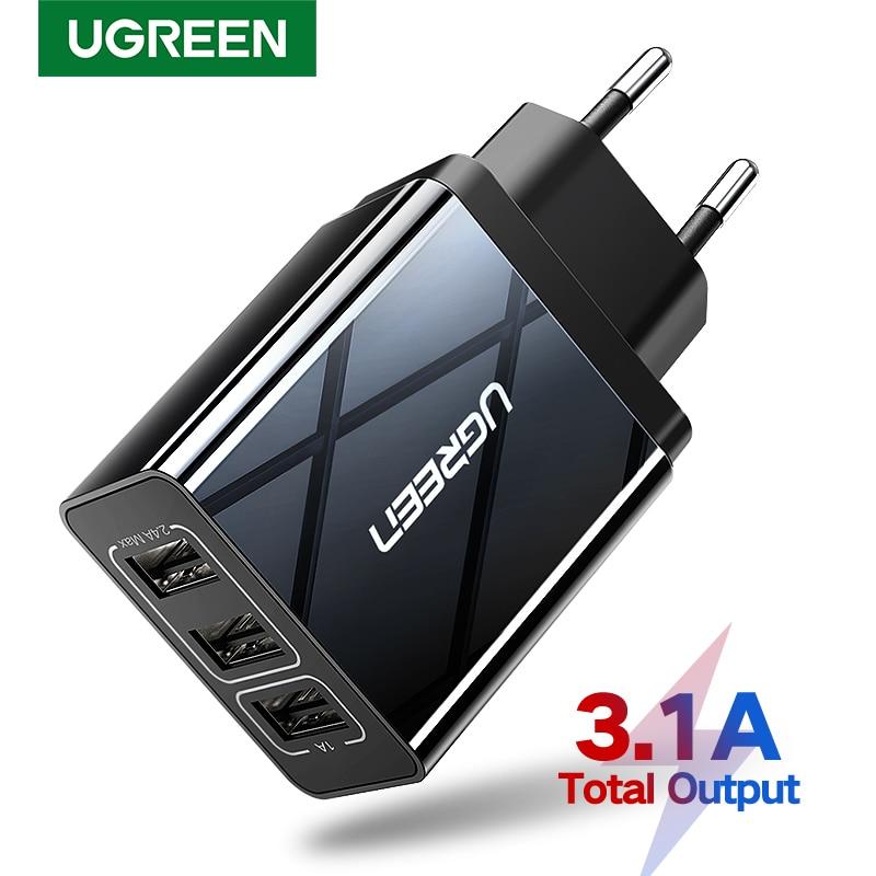 Зарядный адаптер Ugreen, с функцией быстрой зарядки для iPhone Xs/X/8/7/Samsung/Xiaomi/Huawei