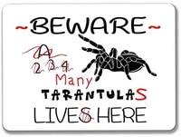tarantula funny beware metal sign tin plaque aluminum for garage cafe bar pub club caffee beer patio