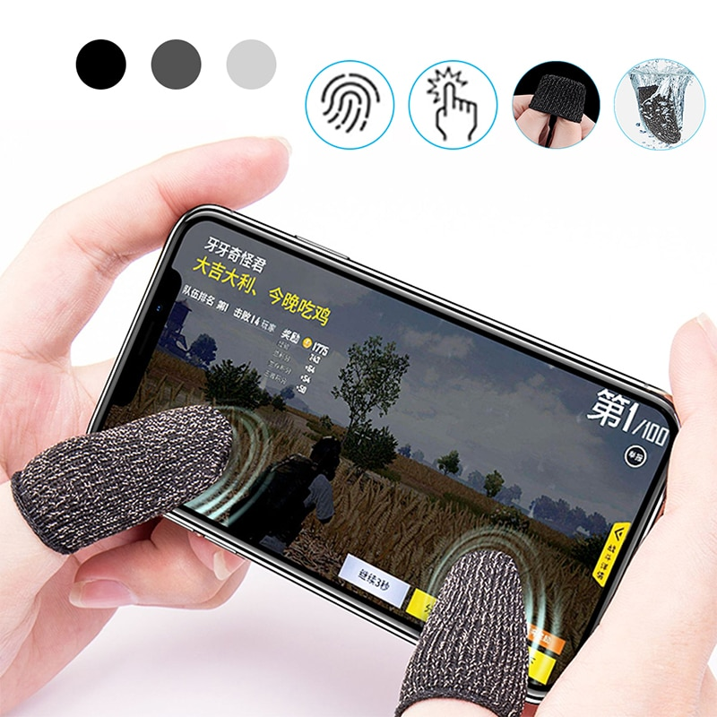 1 Pair L1 R1 Breathable Mobile Game Controller Finger Sleeve Touch Trigger for Fortnite PUBG Mobile