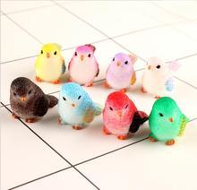 Cabujones pájaro de resina jardinería decoración animal regalo adornos DIY accesorios de jardín en miniatura