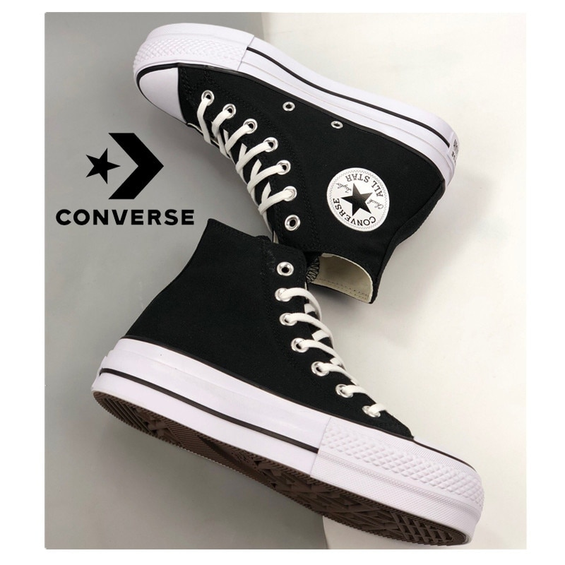 Converse Chuck classic Taylor All Star women's skateboarding shoe platform Men's Women's Sneakers Light Comfortable ,black