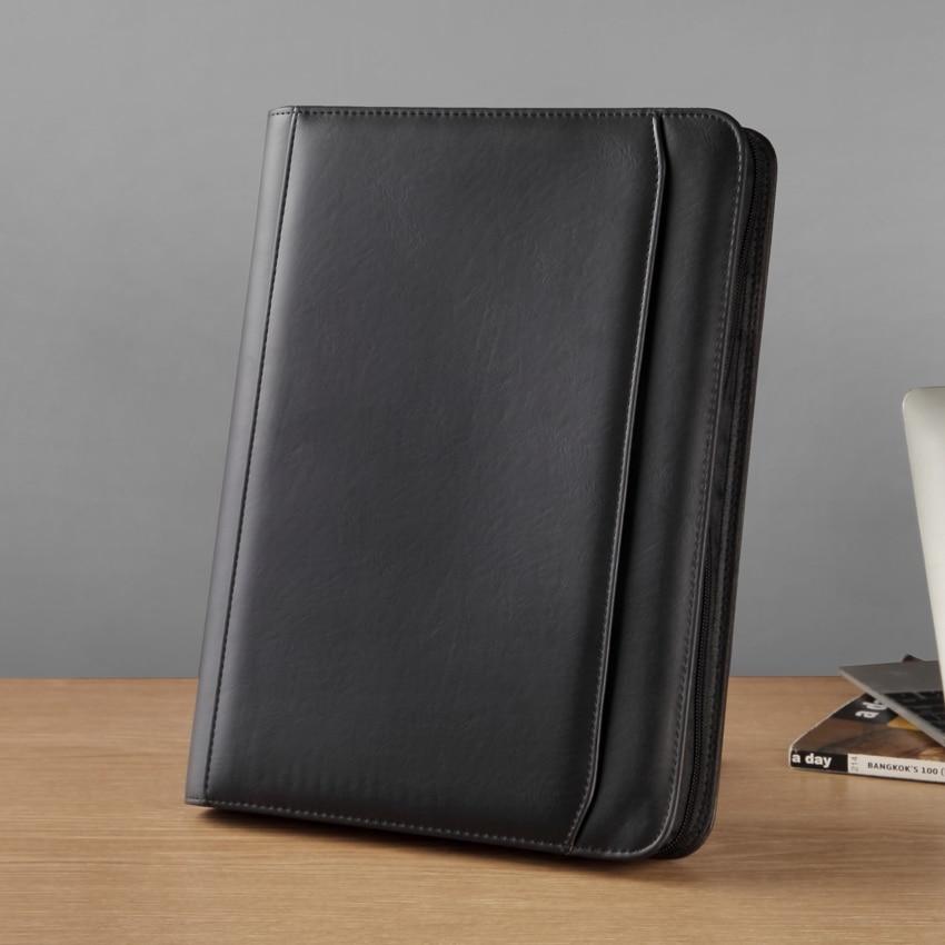 Деловые папки A4 на молнии для документов, портфель для документов, мужской портфель с внешней сумкой, папка с 3 отверстиями для книг