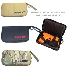 US Army Handgun Pistol Case Militar Nylon Pouches Carry Tool Bag Portable Protection Gun Case Hunting Holster Gun Accessories