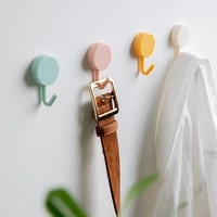 10pcs solid color free punching door without trace nail small hook clothes hook mounted wall hook wall hooks decorative