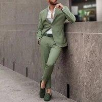 men blzaers suits tops and pants 2 pieces elegant wedding christmas sets autumn spring fashion jackets long pants new 2021