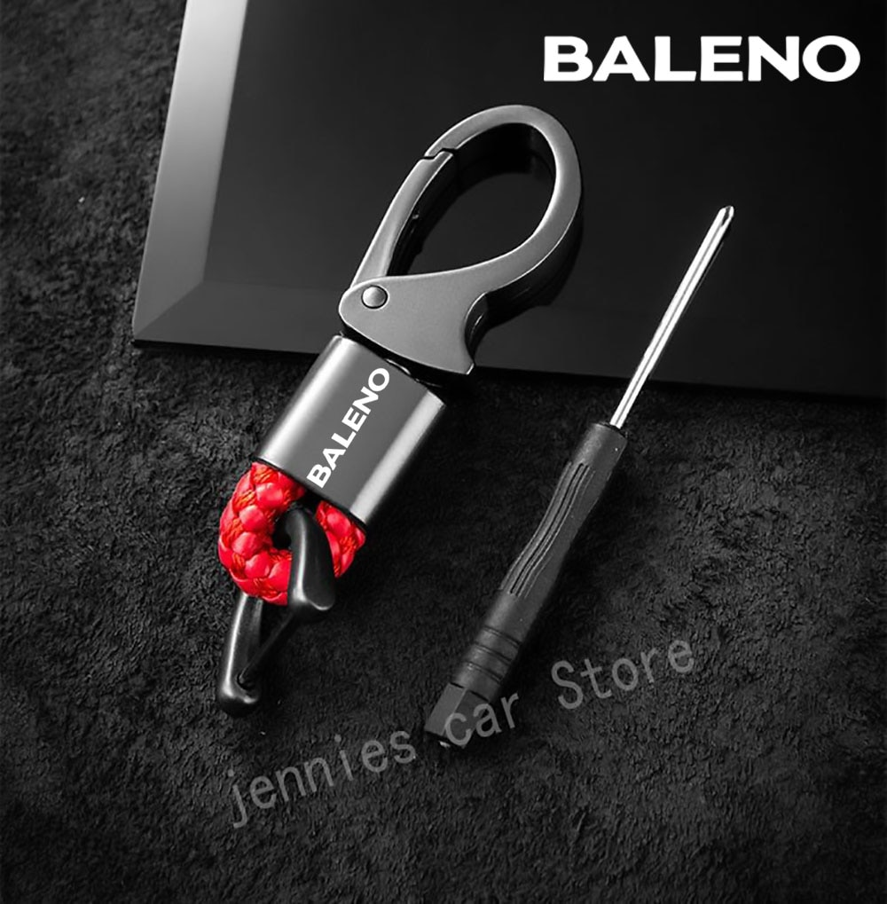 Автомобильные аксессуары для suzuki Baleno, брелок для ключей, металлический автомобильный кожаный ключ для suzuki аксессуары Baleno