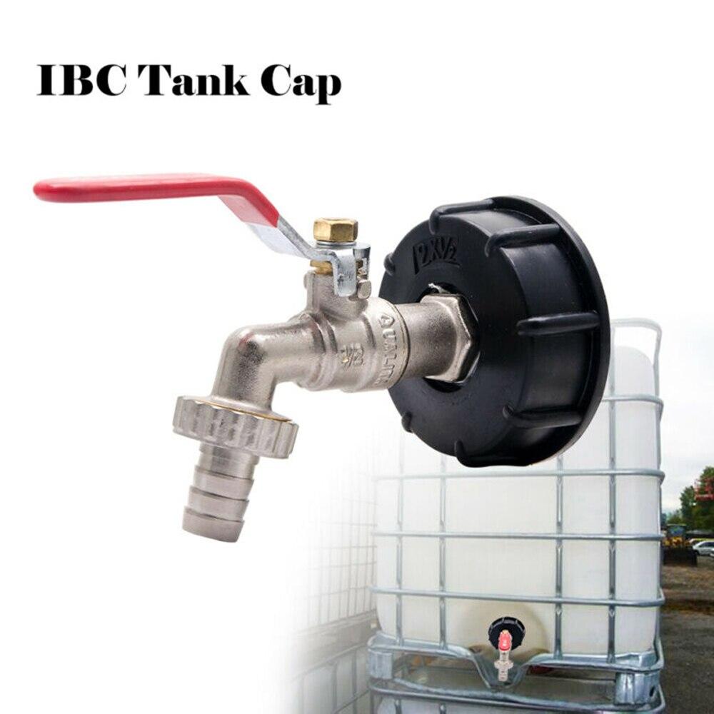 """Adapter zbiornika IBC S60X6 do mosiężnego kran ogrodowy z 1/2 """"armatura do węży oleju paliwa woda do użytku z zatrzaskowym złączem węża"""
