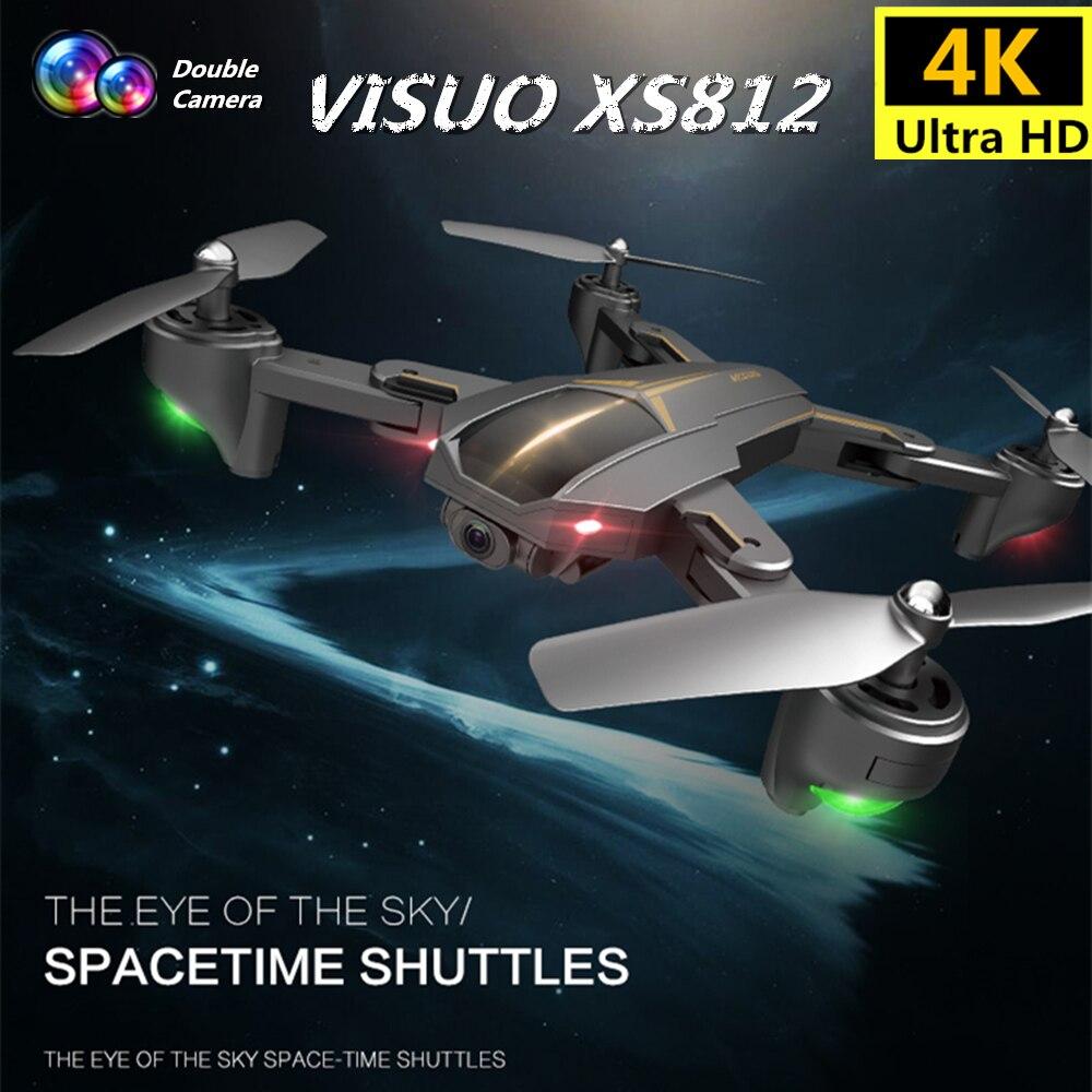 Visuo xs812 gps 드론 4 k 카메라 5g fpv rc 헬리콥터 고도 보류 quadcopter 따라와 quadrocopter vs sjrc z5 f11 dron