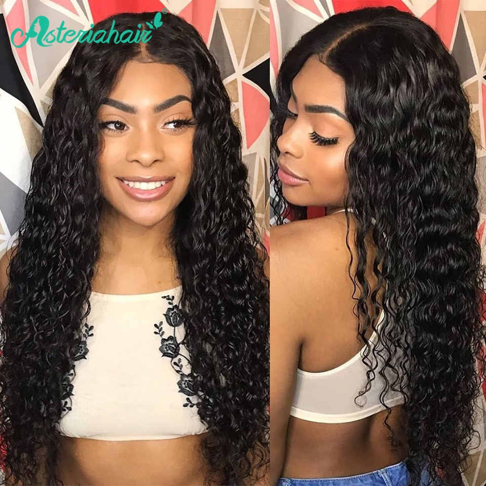 Asteria Deep Wave 13x4 Lace Frontal Human Hair Wigs For Black Women Brazilian Human Hair Wigs Pre Plucked Baby Hair Remy Hair Human Hair Lace Wigs Aliexpress