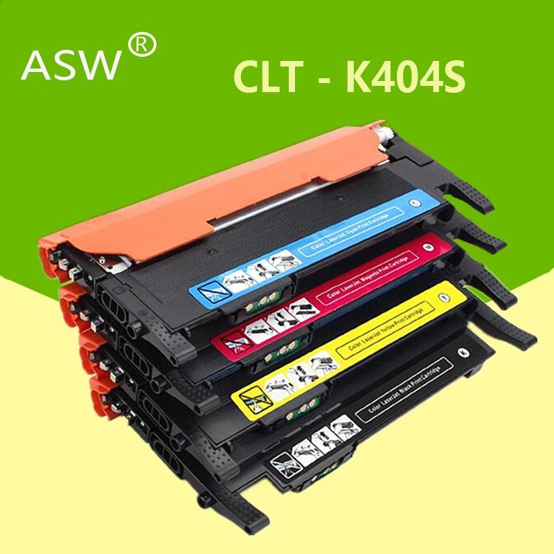 ASW الحبر خرطوشة CLT-K404S M404S C404S CLT-Y404S 404S متوافق لسامسونج C430W C433W C480 C480FN C480FW C480W طابعة