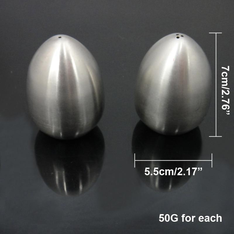 De acero inoxidable duradero en forma de huevo, salero, pimentero, servidor de mesa, herramienta de cocina MJJ88 1 Uds.