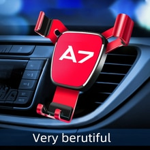 Car Air Outlet-Holder For Audi A7 Mobile Phone 1pcs Car logo Car Navigation Smartphone stand Automot